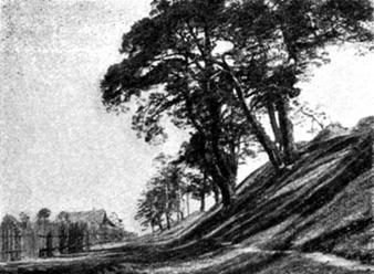 Участок вала, построенный в XII веке