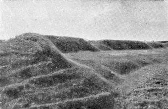 Вал и ров крепости па Оленьей горе
