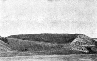 Вал и ров крепости на Оленьей горе