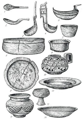 Старинная русская посуда раскраска